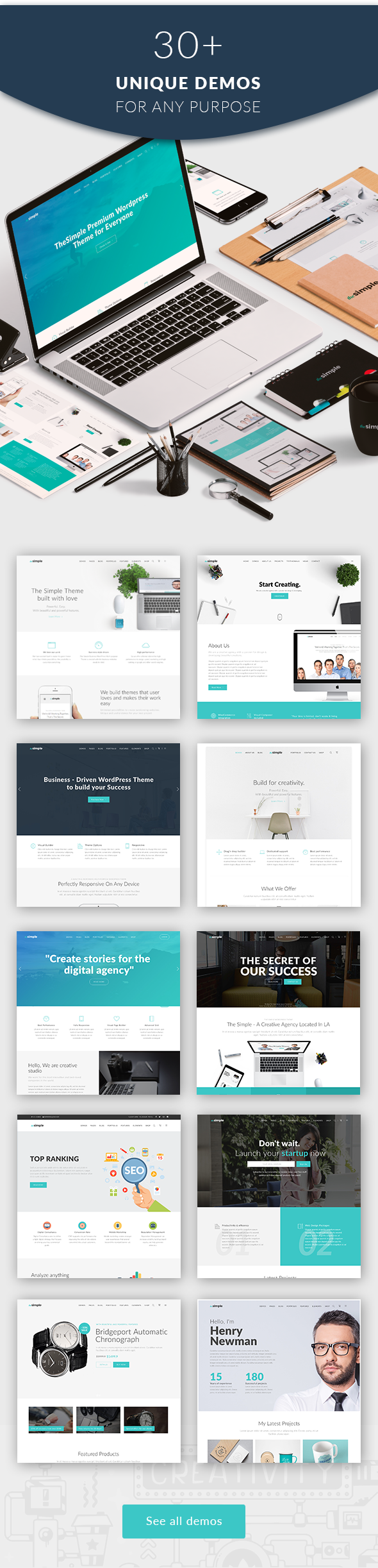 The Simple - Business WordPress Theme - 5